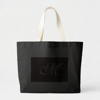 Classy Elegant Cracked Leather Custom Monogram Tote Bags