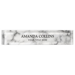 Classy elegant marble nameplate