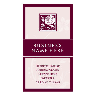 Classy Elegant Rose Floral Boutique Logo Double-Sided Standard Business Cards (Pack Of 100)