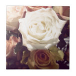 Classy Elegant Roses Photography Ceramic Tiles
