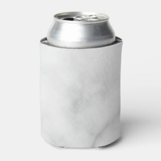 Classy Elegant White Marble Pattern Can Cooler
