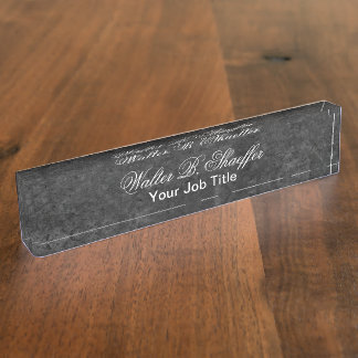 Classy Executive Gift Desk Nameplate