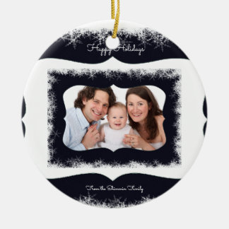 Classy Family Christmas Ornament Your Photo