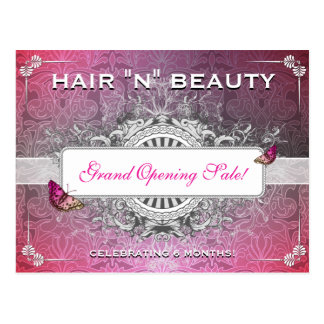 Classy Fancy Flourish Salon Sale Postcard Mailer