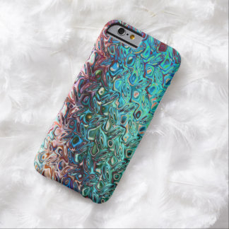 Classy Fashionable Blue Gel iPhone 6 case Barely There iPhone 6 Case