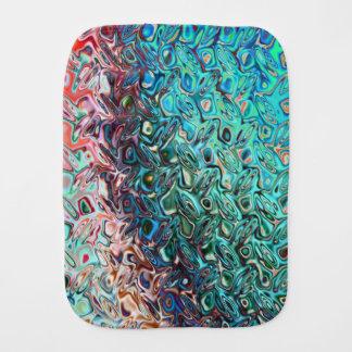 Classy fashionable Crystal blue gel Pattern Burp Cloth