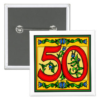 Classy Fifty 50th Birthday Gifts 15 Cm Square Badge