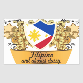 Classy Filipino Rectangular Sticker