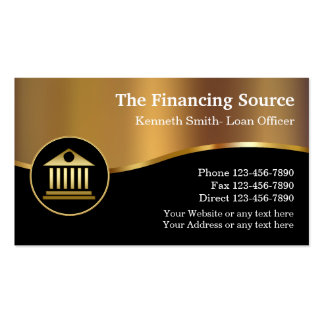 Classy Financial Services Pack Of Standard Business Cards