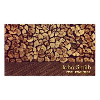 Classy Firewood Civil Engineer Business Card