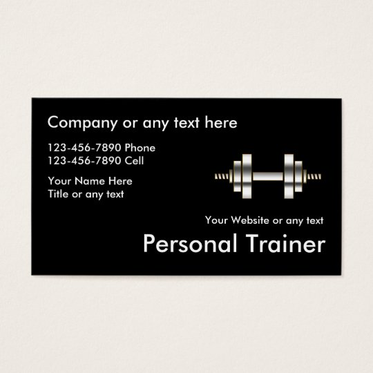 Classy Fitness Personal Trainer Business Cards