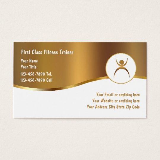 Classy Fitness Trainer Business Cards