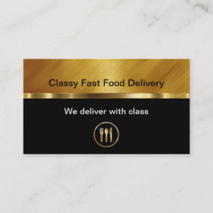 Food delivery business cards business card printing zazzle uk classy food delivery business cards reheart Gallery