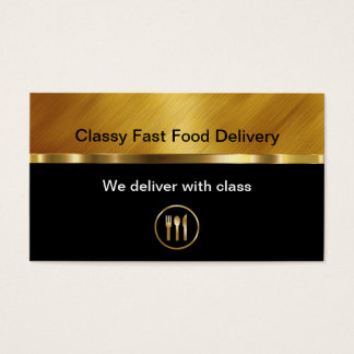 Classy Food Delivery Business Cards