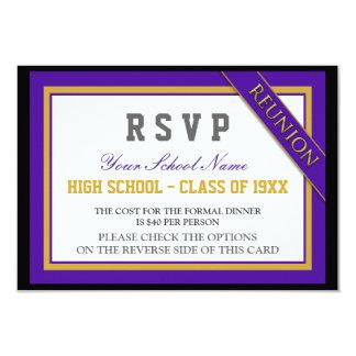 Classy Formal Class Reunion RSVP Card