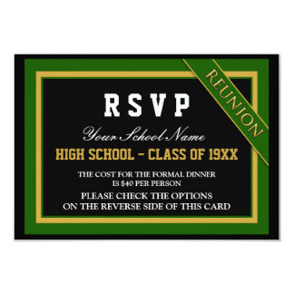 Classy Formal Class Reunion RSVP Invites