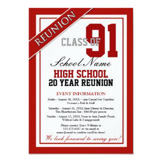 Classy Formal High School Reunion 13 Cm X 18 Cm Invitation Card