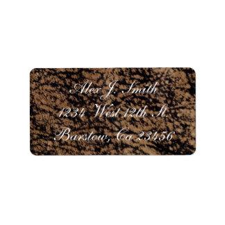 Classy Genuine Leather Designer Address Label