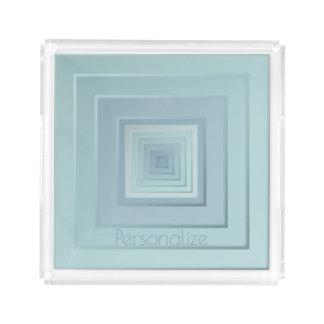 Classy Geometric Squares Acrylic Tray