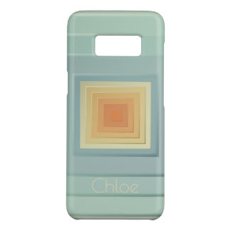 Classy Geometric Squares (light blue & yellow) Case-Mate Samsung Galaxy S8 Case