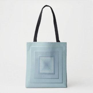 Classy Geometric Squares Tote Bag