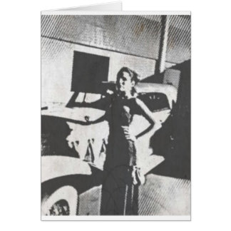 Classy Girl with Nice Car Greeting Card