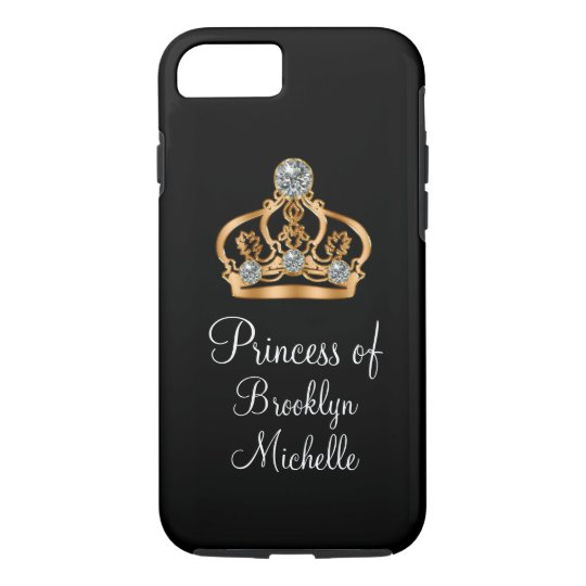 Classy Girly Bling Funny Princess Crown iPhone 8/7
