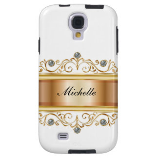 Classy Girly Monogram Galaxy S4 Case