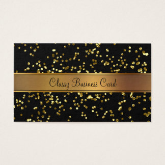 Classy Gold And Black Businesscard Business Card
