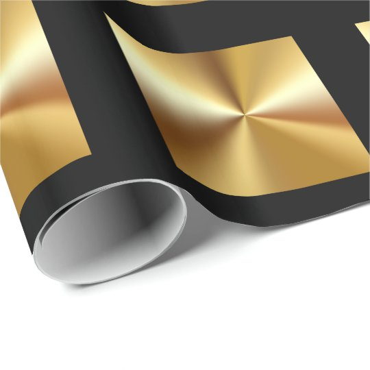 Classy Gold And Black Wrapping Paper