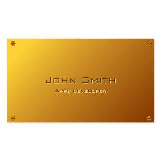 Classy Gold Apps developer Business Card
