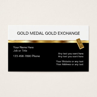 Classy Gold Investment Business Cards