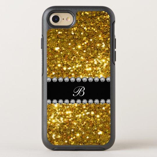 Classy Gold Monogram Glitter OtterBox Symmetry iPhone 8/7
