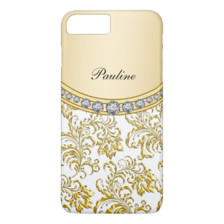 Classy Gold Monogram Style iPhone 8 Plus/7 Plus Case