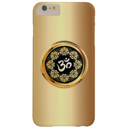 Classy Gold Om Symbol Yoga Barely There iPhone 6 Plus Case