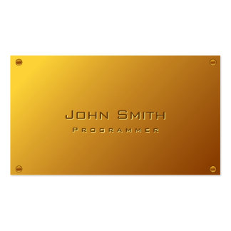 Classy Gold Plated Programmer Business Card