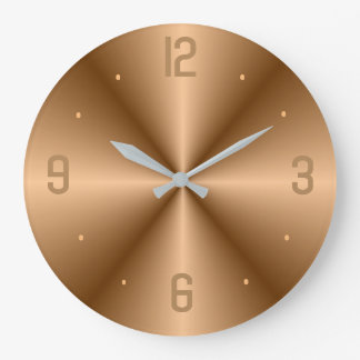 Classy Gold with Big Numerals> Minimalist Clocks