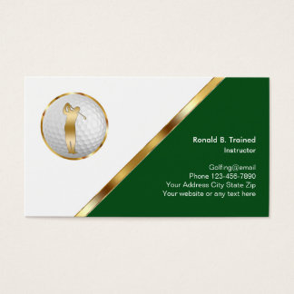 Classy Golf Training Business Card