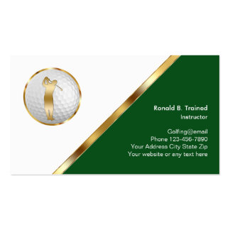 Classy Golf Training Pack Of Standard Business Cards