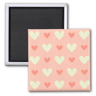 Classy Graceful Hearts - Love and Peace Pattern Square Magnet