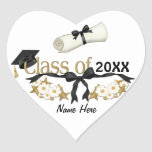 Classy Graduate 2012 - Customise Heart Sticker