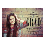 Classy Graduate Photo Graduation Party 13 Cm X 18 Cm Invitation Card