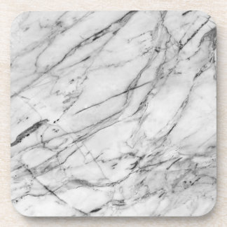 Classy Gray & White Marble Design Coaster Set