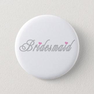 Classy Grays Bridesmaid 6 Cm Round Badge
