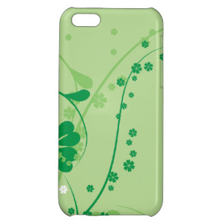 Classy Green Floral Design iPhone 5C Cases