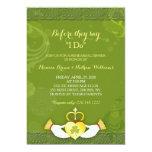 Classy Green Irish Wedding Rehearsal Dinner 13 Cm X 18 Cm Invitation Card