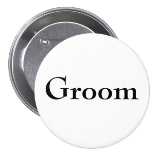 Classy Groom Button