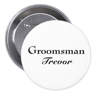 Classy Groomsman Button
