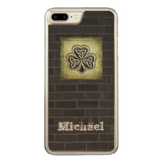 Classy grundge brick wall Irish lucky shamrock Carved iPhone 7 Plus Case