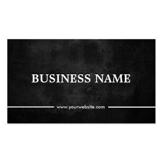 Classy Grunge Dark Funeral Double-Sided Standard Business Cards (Pack Of 100)